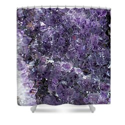 Amethyst Geode II Shower Curtain