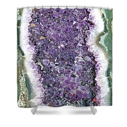 Amethyst Geode Shower Curtain by Tikvah's Hope