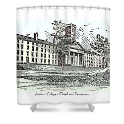 Amherst College - Chapel And Dormitories Shower Curtain