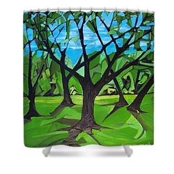Amigos - Trees Botanicals Shower Curtain by Grace Liberator