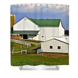 Amish Country Barn Shower Curtain by Frozen in Time Fine Art Photography