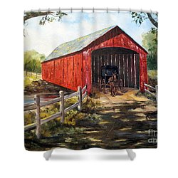 Amish Country Shower Curtain by Lee Piper