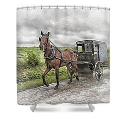 Amish Country Shower Curtain by Linda Blair