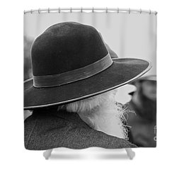 Amish Faces Shower Curtain by Mary Carol Story