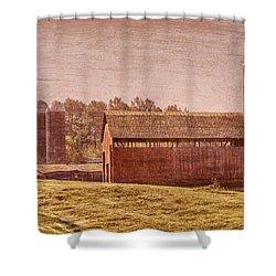 Amish Farm Shower Curtain by Debra and Dave Vanderlaan