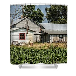 Amish Farm In Tennessee Shower Curtain by Kathy Clark