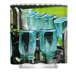 Amish Fence Shower Curtain by William Rockwell