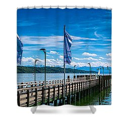 Ammersee - Lake In Bavaria Shower Curtain