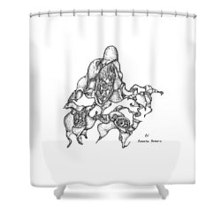 Amoeba Dancers Shower Curtain