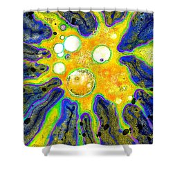 Shower Curtain featuring the painting Amoeba Senescent by Carol Jacobs
