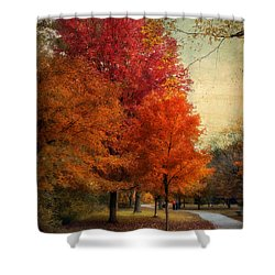 Among The Maples Shower Curtain by Jessica Jenney