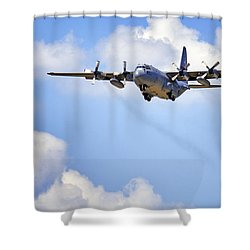Amongst The Clouds Shower Curtain