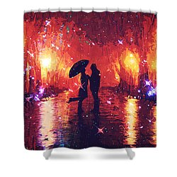 Amour Shower Curtain by Taylan Apukovska