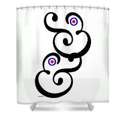 Ampersand. Shower Curtain