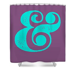 Ampersand Poster Purple And Blue Shower Curtain