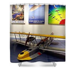 Amphibious Plane And Era Posters Shower Curtain