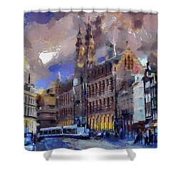 Amsterdam Daily Life Shower Curtain