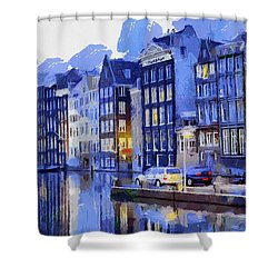Amsterdam With Blue Colors Shower Curtain