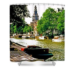 Shower Curtain featuring the photograph Amsterdam by Ira Shander