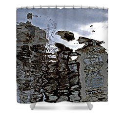 Shower Curtain featuring the photograph Amsterdam Reflections 2 by Andy Prendy