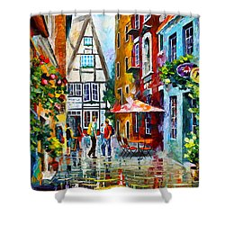 Amsterdam Street Shower Curtain by Leonid Afremov