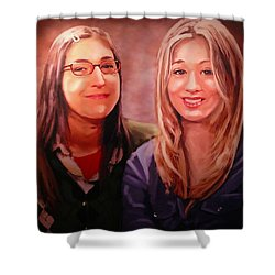 Amy And Penny Shower Curtain