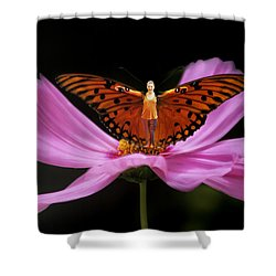 Shower Curtain featuring the photograph Amy The Butterfly by Susan Rovira