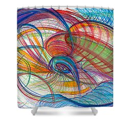 An Affair Of Energy Shower Curtain by Kelly K H B