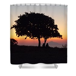 Shower Curtain featuring the photograph An African Sunset by Vicki Spindler