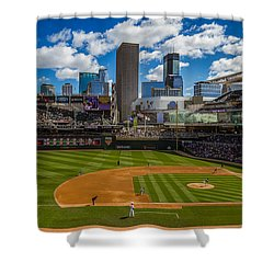 An Afternoon At Target Field Shower Curtain