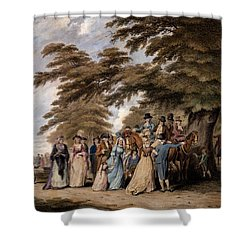 An Airing In Hyde Park, 1796 Shower Curtain by Edward Days
