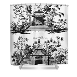 An Alcove And A Cool Retreat Shower Curtain by Paul Decker