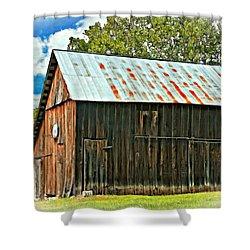 An American Barn 2 Oil Shower Curtain by Steve Harrington