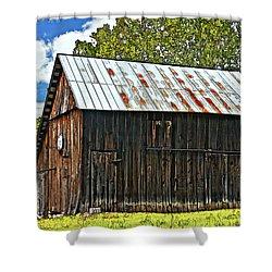 An American Barn 2 Painted Shower Curtain by Steve Harrington
