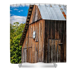An American Barn Shower Curtain by Steve Harrington