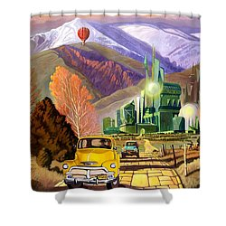 Shower Curtain featuring the painting Trucks In Oz by Art James West