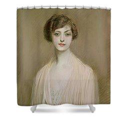 An American Shower Curtain by Paul Cesar Helleu