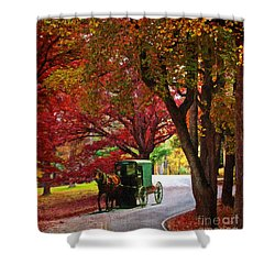 An Amish Autumn Ride Shower Curtain