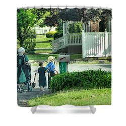 Little Amish Gardeners Shower Curtain