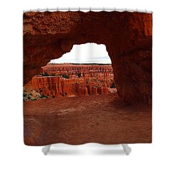 An Arch Foreground The Pillars Shower Curtain by Jeff Swan