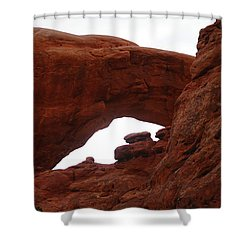 An  Arch  Shower Curtain by Jeff Swan