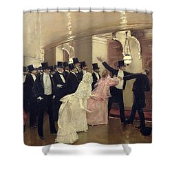 An Argument In The Corridors Of The Opera Shower Curtain by Jean Beraud
