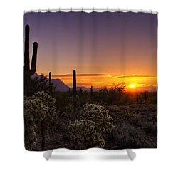 An Arizona Winter Sunrise Shower Curtain