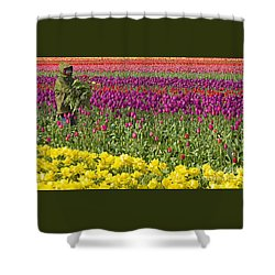 An Arm Full Of Beauty Shower Curtain by Nick  Boren