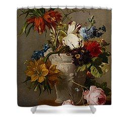 An Arrangement With Flowers Shower Curtain by Georgius Jacobus Johannes van Os