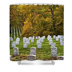An Autumn Day In Arlington Shower Curtain