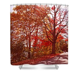 An Autumn Walk Along The Charles River Shower Curtain