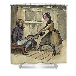 An Awkward Predicament Circa 1862 Shower Curtain by Aged Pixel