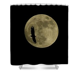 An Eagle And The Moon Shower Curtain