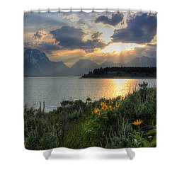 An Evening At Jackson Lake Shower Curtain